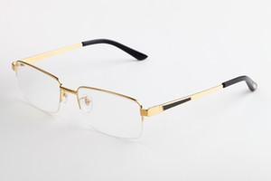 Kadınlar lüks tasarımcı gözlük Okuma Gözlükleri Deluxe Dikdörtgen Optik Vintage Titanyum Yarı Çerçevesiz Çerçeve erkek tasarımcı gözlük