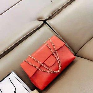 Vogue von neuen Fonds aus echtem Leder Oblique Satchel Weibliche Baotou Schichtrind Ling Kette Einzel Damen Schultertasche Luxus-Handtasche