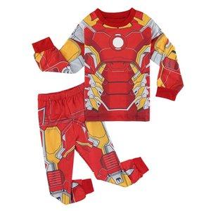 3-8Y Boys Superhero Kostüm Pijama Çocuk Dart Vader Hulk Iron Man Pijama Çocuk Pijama Giyim Seti Uzun Kollu Pijamas