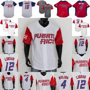 Puerto Rico Baseball Jersey Yadier Molina Ivan Rodriguez Carlos Correa Enrique Hernandez Javier Baez Bernie Williams Seth Lugo Alex Cora
