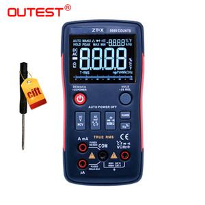 True-RMS Digital-Multimeter-Knopf 9999 Counts Auto / Manuell mit Analog-Bargraph AC / DC-Spannung Amperemeter Strom Ohm RM409B