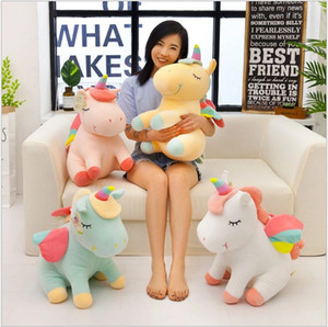 Cartoon FLying Unicorn Plush Toy Soft Doll Cute 25cm 40cm Angel Stuffed Animal Unicorns Cuddle Appease Sleeping Horse Pillow Children Gift