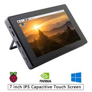 Дешевые Демо Орд Аксессуары 7-дюймовый Raspberry Pi 4B / 3B / 3B сенсорный экран 1024 х 600 IPS ЖК-дисплей с Case Holder OSD