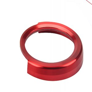 Red SAuto Start Stop Button Decorative Circle Trim Fit For BMW 3 Series F30 12-17 and Hood Trunk Emblem Badge