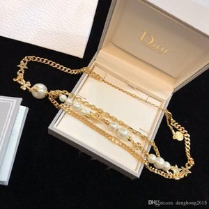 Designer jewelry pearl necklace bracelet earrings iced out chains jewelry necklace mens 14k gold chains rings cuban link chain