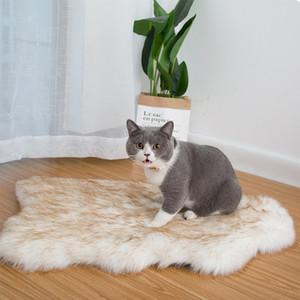 Pet Dog Bed Mat Curve White Dog Tapis en fausse fourrure orthopédique lit pour Big Moyen Petit Puppys Soutien Dropping Livraison