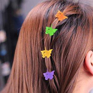 Saç Accories 120 adet Renkli Plastik Çocuk Saç Klipler Kadınlar Için Kelebek Saç Accories