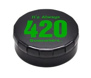 Protable новейший металлический ящик для хранения табака металлическая таблетка с воском контейнер для курения