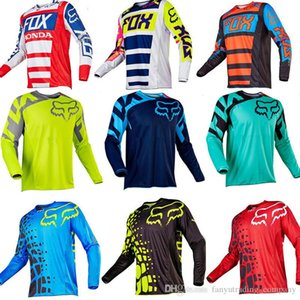 Nueva camisa de manga corta de descenso Fox Jersey Mountain Bike MTB Camiseta Maillot bicicletas Uniforme ciclo la ropa ropa de la motocicleta