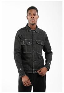 Homme Abbigliamento modo di stile Hip Hop casuale Abbigliamento Uomo Autunno Designer Jeans Nero Giacche Skull ricamo risvolto maniche lunghe collo