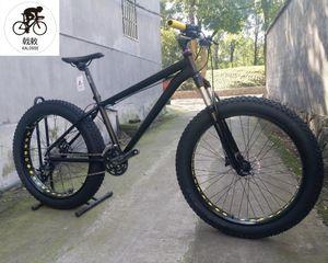 KALOSSE 30S snow bike 26*4.0 inch tires fat beach mountain bike 30 speed bicicleta mountain