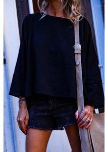 Kol Dişiler Tees Dişiler Giyim Geri Yumruk Baskı Tasarımcı Uzun Kollu T-shirt Casual Gevşek Lantern Womens