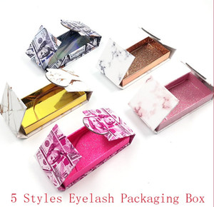 Mink Ciglia 3d caselle Ciglia finte Packaging casi senza Lashes Vuotare magnetica Lashes Caso Dollaro marmo Lash Box