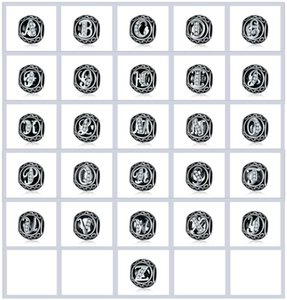 MOQ 26 letras del alfabeto de los granos de plata Carta A-Z Charm el ajuste del grano encanto de la letra la pulsera DIY W V U Z C T Berloque bricolaje Accesorios