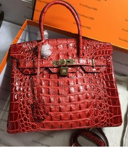 Cowskin alligator 35CM 30CM femmes Totes Mode Sacs Sacs à bandoulière en cuir véritable sac à main femme