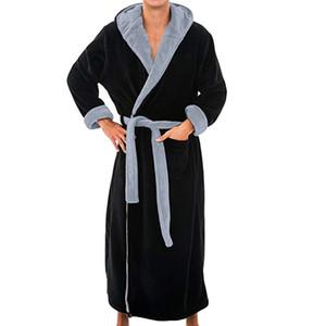 Uomo Inverno Extra Lungo Accappatoio Mens Warm Flanella Lungo Kimono Accappatoio da bagno Maschile Accappatoi Camicia da notte Abito Home Clothes # 45B