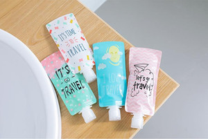 Folding Lotion Separating Storage Bag Travel Business Emulsion Packing Bag Portable Shampoo Bottle Squeeze Makeup Container SN1291