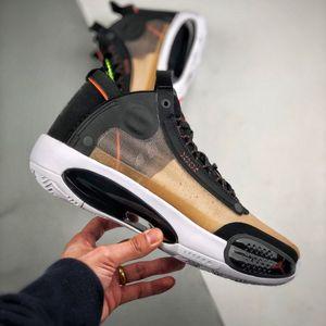 Последнее поколение AJ34 официального поколения тридцать четвёртых независимая воздушной подушка полых нижняя демпфирование цикада крыло верхнего высокие верхняя баскетбольная обувь