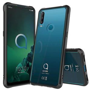 Alcatel 3X 1X 1 S Şeffaf Şeffaf Akrilik TPU Telefon Kılıfı 2019 3v Insight 1X Evolve A50 Darbeye Sert Kapak