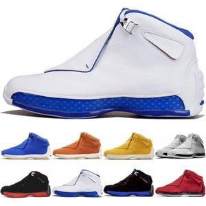 Jumpman 18 18s Herren Basketballschuhe Toro OG ASG Bred Cool Grau Sport Royal Suede Blau Gelb Orange Retro Trainer Sport Turnschuhe 7-13