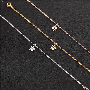 10 STÜCKE Tiny Initial Alphabet # Hashtag Armband Einfache Gestempelte Anzahl Zeichen Symbol Brief Zeichen Klavier Musiknote Armbänder