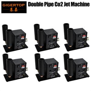 6pcs / lot Double tuyau CO2 Machine de jet CO2 DMX 2 Canaux Équipement de stade 90V / 240V haute pression 6 mètres Gose Connexion rapide Connexion Raccord TP-T27B