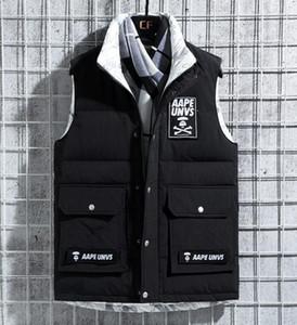 Ape 2019 çift yüzlü aşağı kalın yelek şal ceket yelek büyük boy ceket kış açık M - XXXL Beş renk A1923