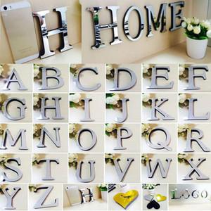 Wall Sticker Wall Sticker Lettera di alfabeto 3D Specchio acrilico murale decorazione del salone