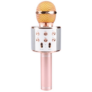 New WS858 Portable Bluetooth Karaoke Microphone Wireless Professional Speaker Home KTV Handheld Microphone mikrofon studio recording studio