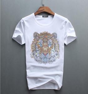 Оптовая продажа роскошных бриллиантовый дизайн футболки модные футболки мужские прикольные футболки марки хлопок топы 02