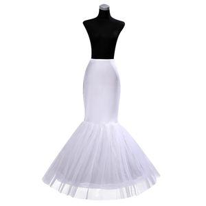 Hot Cheap One Hoop Petticoat Crinoline for Mermaid Wedding Dresses Flounced Trumpet Underskirt Mermaid Petticoat Slip Bridal Accessories