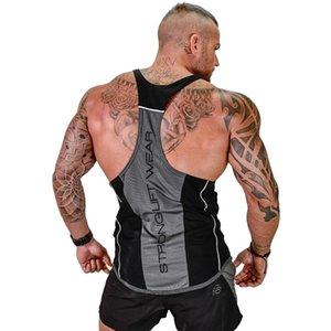 Mens culturismo sin mangas de la camisa sin mangas gimnasios 2018 nuevo macho ropa algodón de la manera singlete chaleco Undershirt PYHAILLP MX200518