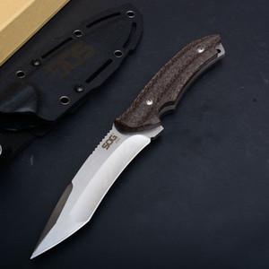 Hight Qualität US SOG KU-200 reparierte Blatt-Messer im Freien taktisches Jagdmesser AUS-8 Klinge Hanf Griff Überleben Stright Messer