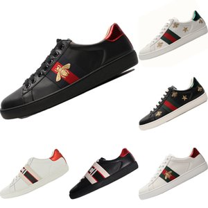 2020 Ace Bee Bestickt Leder Low Cut Sneakers Originale GUCCI Ace Bee Integrierte Zoom Air Skateboard Schuhe