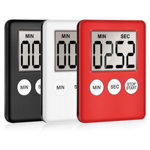 Pantalla mini LCD Digital Kitchen Timer Square Cocina alarma de cuenta regresiva del reloj del sueño imán cronómetro reloj temporizador