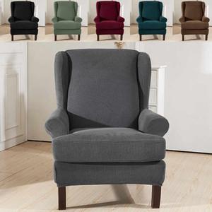 Elástica Sillón orejero Sofá Ala Volver cubierta de la silla se inclina Brazo Rey Volver cubierta de la silla del estiramiento del protector del protector de funda