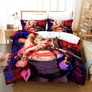 Пододеяльник 3D сексуальный клоун самоубийство команда Мужская мечта наборы постельных принадлежностей Король Королева Твин размер 3шт наволочка