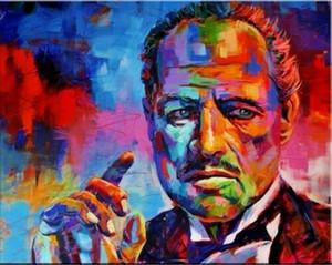 Le Parrain Portrait Pop Art huile sur toile Wall Art Home Decor Artisanats / HD Imprimer Grande Image 190924