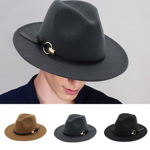 Womens Men Black Hat British Magician Hat Jazz Unisex Bowler Chapeu Fedora Chapeu Masculino Casquette#4
