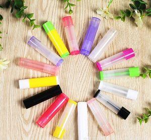 1000pcs / lot DIY 5ml preto PP Batom Tube, 5cc Lip Balm Recipiente, recipiente cosmético, embalagem