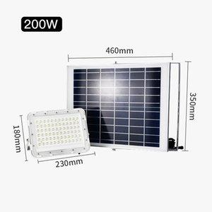 luz impermeável ao ar livre LED Solar Luz de inundação IP66 parede com Smart remoto Spotlight energia solar para Home Garden Quintal gramado Luz de pool