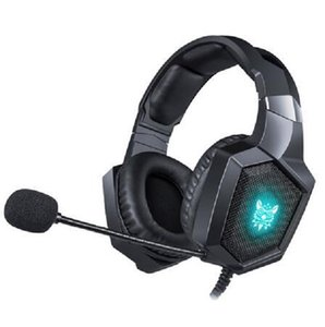 2020 cuffie stereo ONIKUMA K8 casco PS4 Gaming Headset per PC con luci LED microfono per Xbox One / Laptop Tablet Gamer