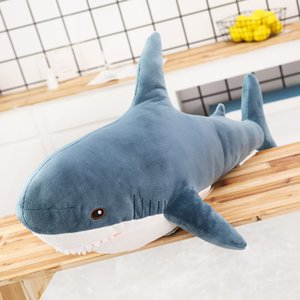 FREE Shipping 100CM Giant Shark Plush Toy Soft Stuffed Speelgoed Animal Reading Pillow for Birthday Gifts Cushion Doll Gift For Children