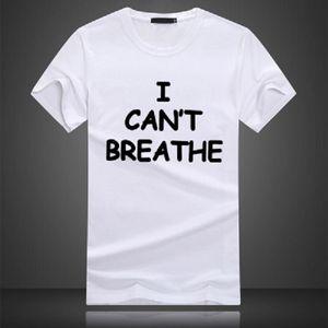 camisa de atenção t Eu não posso respirar manga curta encabeça Roupa unisex Pure tshirt cor que eu não posso respirar arte Mens Printed Tee