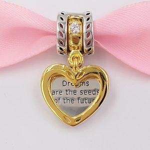 Auténticos 925 granos de plata Sterling Semillas de los encantos futuro Charm colgante se adapta al estilo europeo joyería de Pandora collar de las pulseras 767623