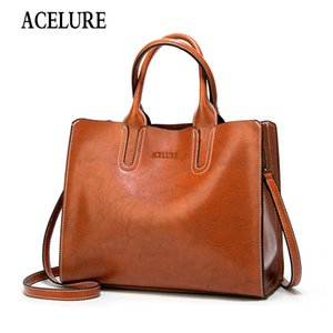 ACELURE Women Shoulder Bag Simple Handbags Famous Brands Big Trunk Tote Vintage Ladies crossbody bags for women handbags CJ191222