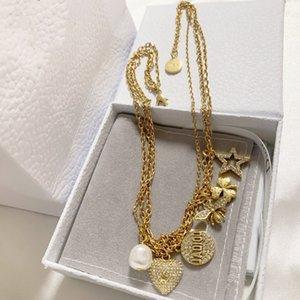 Nouveau multi-pendentif amour abeille super bijoux créateur de mode polyvalent simple et élégant collier design personnalité