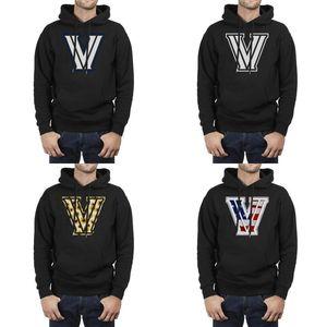 Moda Erkekler Villanova Wildcats Basketbol beyaz logosu siyah Kış Kazak Baskı Cep Dar kesim Kapüşonlular 3D Etkisi Bayrak ayçiçeği