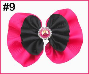 El envío libre 60pcs 5-5.5 '' pelo arcos redondos diamantes de imitación niña arcos del pelo accesorios de moda chica de la perla grande