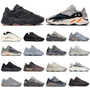 Kanye west 700 hommes femmes des chaussures de course réfléchissant Wave Runner Utility noir Azael Alvah Vanta Hospital bleu hommes formateurs mode sport baskets